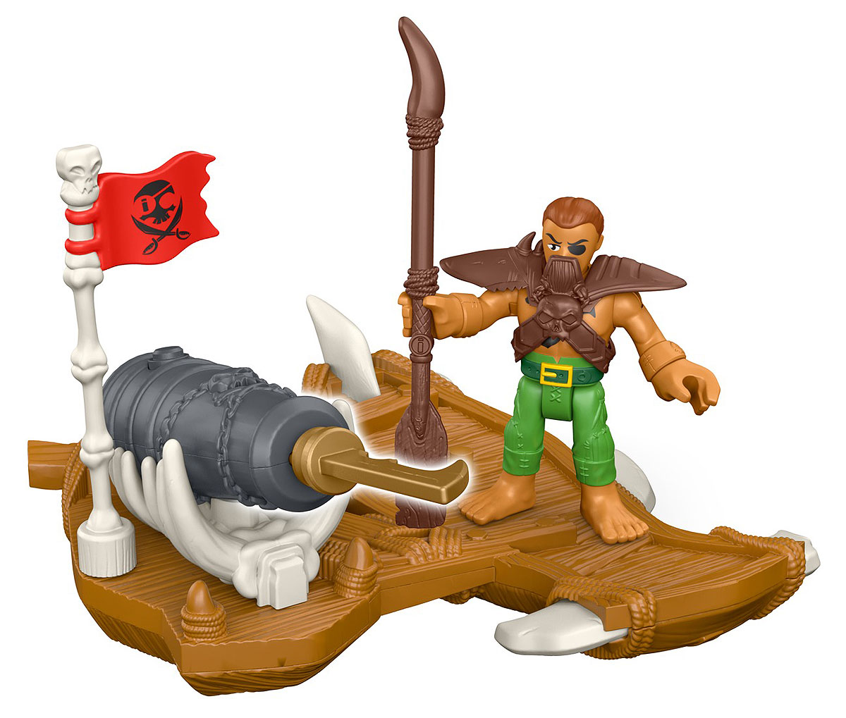 Imaginext Игровой набор Captain Kidd & Surf Board