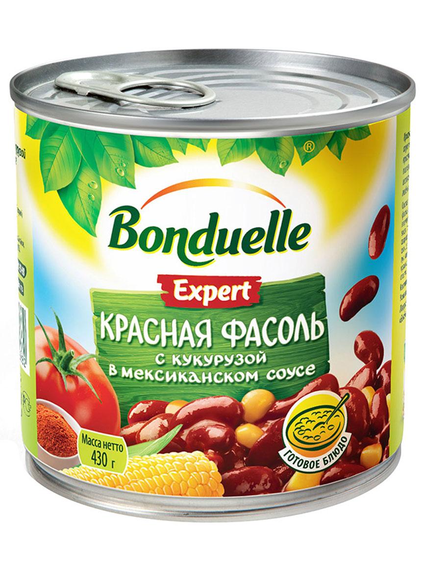 Bonduelle красная фасоль с кукурузой в мексиканском соусе, 430 г увелка фасоль красная 450 г