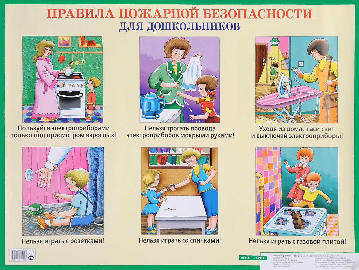 Правила пожарной безопасности для дошкольников. Плакат