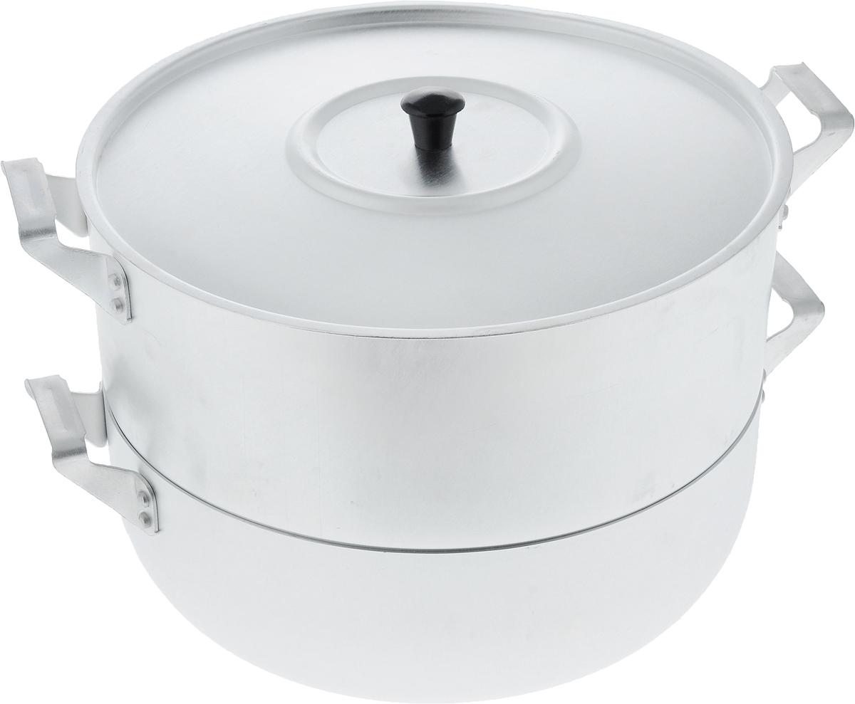 """Мантоварка Scovo """"Эконом"""" изготовлена из высококачественного алюминия, что делает посуду износостойкой, прочной и практичной. Глубина уровней изделия, диаметр отверстий и объем специально предназначены для приготовления мантов. В мантоварке также можно готовить и другие блюда: овощи, котлеты или пельмени. Готовить на пару очень просто, продукты не пригорают и не склеиваются, а готовое блюдо выходит рассыпчатым и ароматным. Питательные элементы и витамины не растворяются в воде, а остаются в продуктах. Еда получается не только полезной, но и по-настоящему вкусной.Подходит для газовых и электрических плит. Внутренний диаметр нижней кастрюли: 26 см. Внутренний диаметр верхнего корпуса: 26 см. Общая высота стенки мантоварки: 18 см. Расстояние между решетками (ярусами) мантоварки: 3,5 см.Диаметр отверстий: 1 см."""