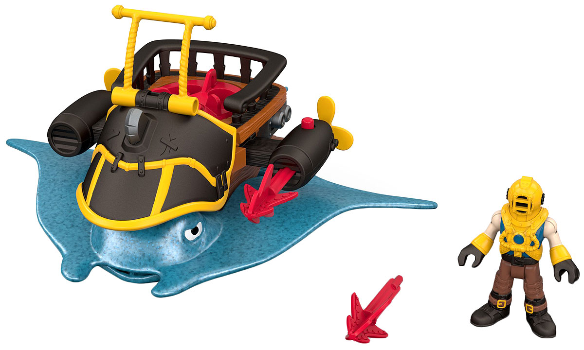 Imaginext Игровой набор Капитан Немо и скат redwood игровой набор набор корабль призрак