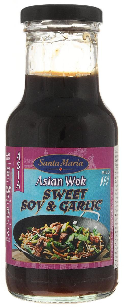 Santa Maria сладкий соевый соус с чесноком, 250 мл sanbonsai легкий соус соевый 150 мл