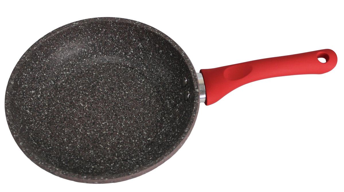 Сковорода Satoshi Вива, с антипригарным покрытием. Диаметр 26 см846342Сковорода оснащена эргономичной ручкой с покрытием soft-touch, которая не нагревается в процессе приготовления пищи и не дает вашим рукам обжечься. Посуда подходит для индукционных, газовых, электрических и стеклокерамических плит. Можно мыть в посудомоечной машине.
