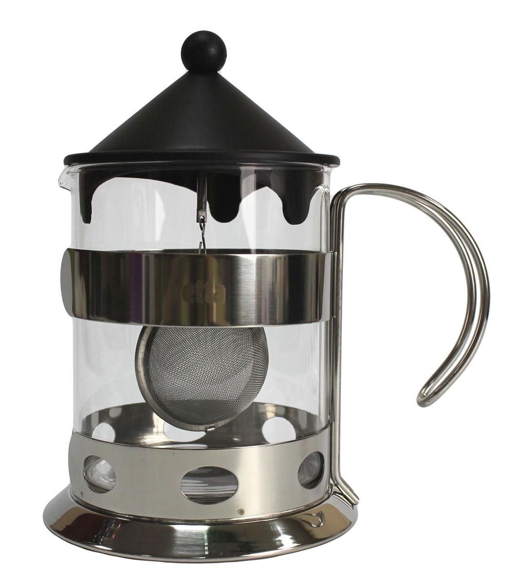 Чайник заварочный Vetta, 1,2 л850132Заварочный чайник Vetta из нержавеющей стали, стекла и силикона. Легкий, прочный. Хорошо впишется в любой интерьер. Удобный в применении.