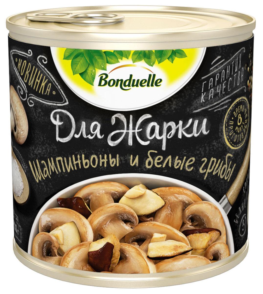 Bonduelle шампиньоны и белые грибы Для жарки, 400 г грибы vitaland виталанд шампиньоны резаные 425г ж б