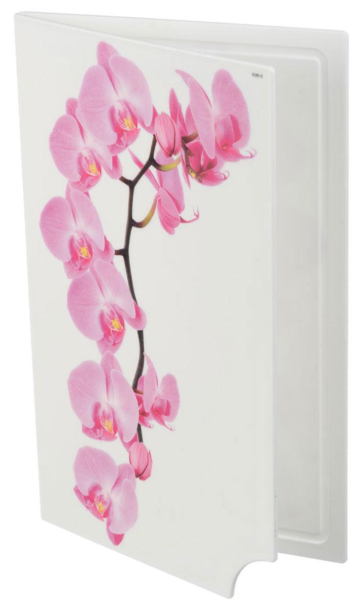 Доска разделочная Idea Деко. Орхидея, складная, 35 х 28 см ведро idea деко орхидея 5 л