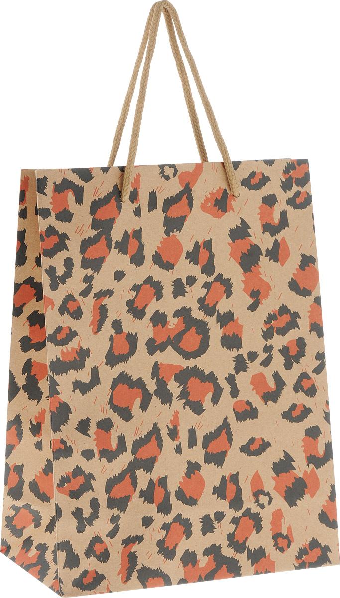 Пакет подарочный Феникс-Презент Леопард, 19 х 8 х 24,5 см пакет подарочный феникс презент чашки 18 х 10 х 23 см