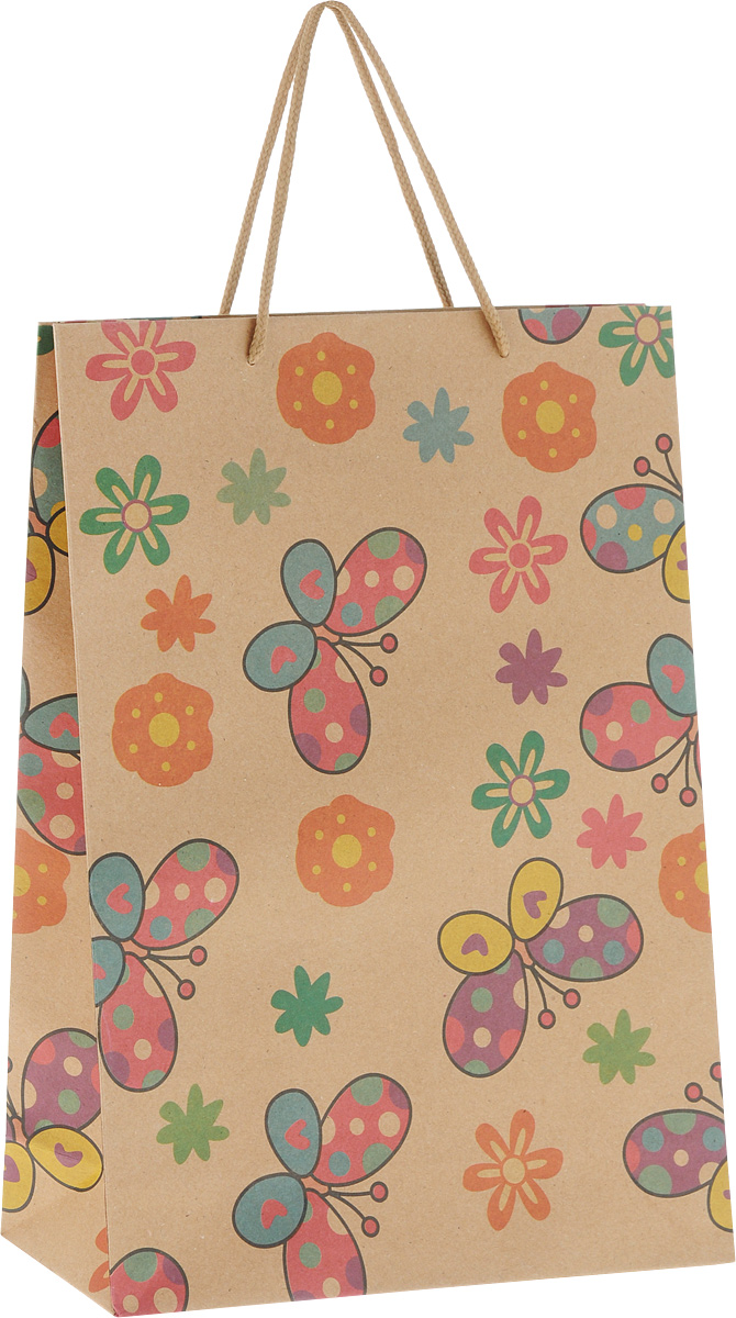 Пакет подарочный Феникс-Презент Бабочки и цветочки, 24 х 8 х 33 см43730Подарочный пакет Феникс-Презент Сердечки,изготовленный из плотной крафт-бумаги, станетнезаменимым дополнением к выбранному подарку. Дноизделия укреплено картоном, который позволяетсохранить форму пакета и исключает возможностьдеформации дна под тяжестью подарка. Пакет украшенрисунками бабочек и цветочков. Для удобной переноскиимеются две текстильные ручки в видешнурков. Подарок, преподнесенный в оригинальной упаковке,всегда будет самым эффектным и запоминающимся.Окружите близких людей вниманием и заботой, вручивпрезент в нарядном, праздничном оформлении.
