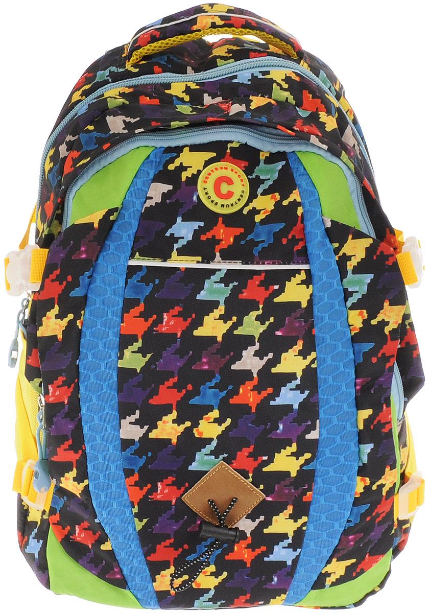 Centrum Рюкзак 8682586825Рюкзак Centrum - это современный многофункциональный молодежный рюкзак, который выполнен из прочного износостойкого материала высокого качества. Рюкзак имеет два основных отделения, закрывающиеся на молнии. В самом большом отделении находится широкий накладной карман.По бокам рюкзака расположены два сетчатых кармана на резинках, а также боковые стяжки.Рюкзак оснащен мягкой ручкой для переноски и удобной петлей для подвешивания. Уплотненная спинка и лямки помогают лучше распределить нагрузку и сохранить форму рюкзака независимо от его наполнения. Мягкие широкие лямки позволяют легко и быстро отрегулировать рюкзак в соответствии с ростом.