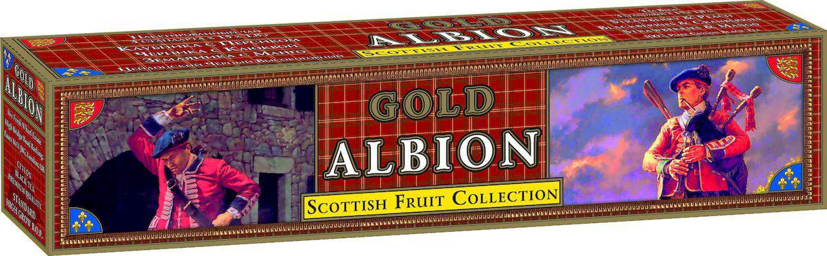 Золотой Альбион Шотландская фруктовая коллекция черный чай в пакетиках, 45 шт60404Цейлонский, черный, пакетированный чай с ароматами: клубники и персика, черники и клюквы, земляники и манго.В упаковке 45 чайных пакетиков. Вес чайного пакетика - 1,8 грамма.