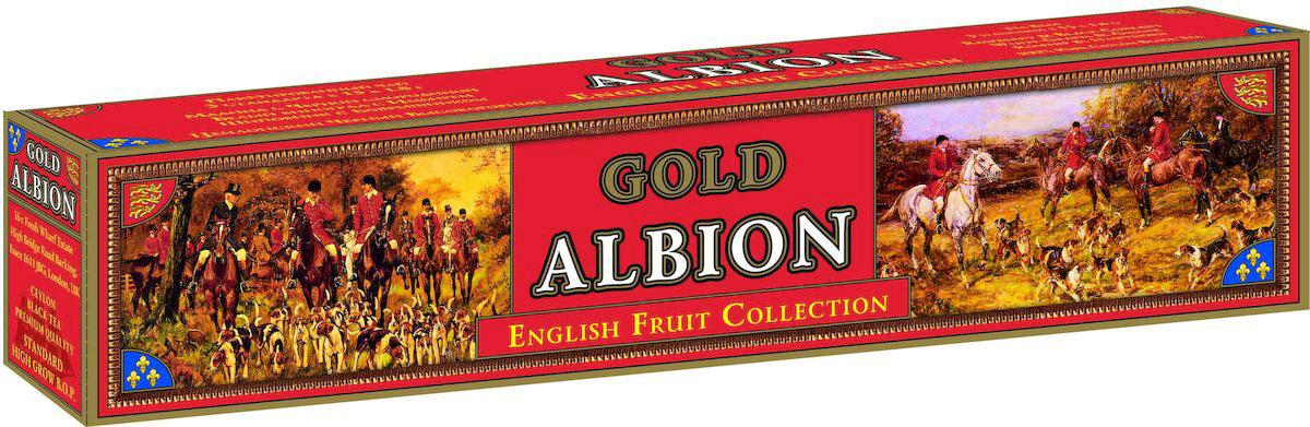 Золотой Альбион Английская фруктовая коллекция черный чай в пакетиках, 45 шт60401Цейлонский, черный, пакетированный чай с ароматами: малины и черной смородины, белого винограда и имбиря, шиповника и боярышника.В упаковке 45 чайных пакетиков. Вес чайного пакетика - 1,8 грамма.
