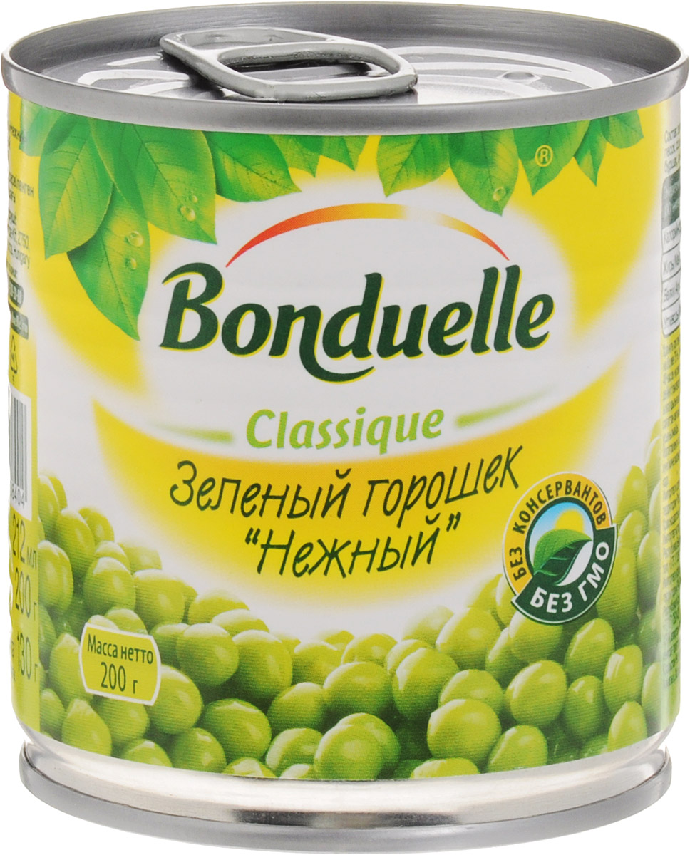 Bonduelle зеленый горошек Нежный, 200 г баклажаны bonduelle fusion по тоскански
