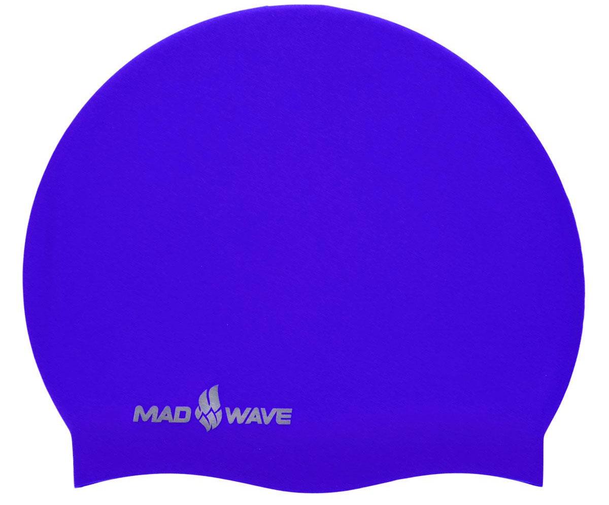 Шапочка для плавания MadWave Intensive, силиконовая, цвет: синий очки для плавания madwave madwave ma991dubeg95