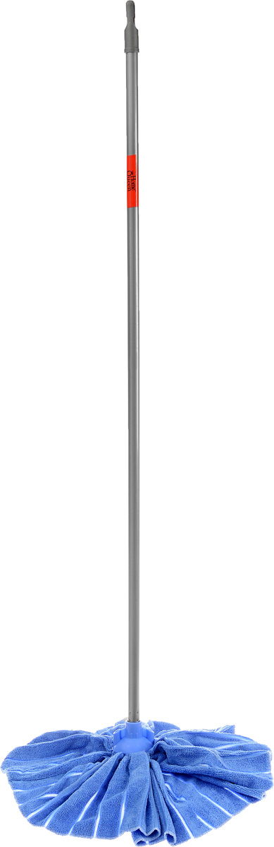 """Швабра Home Queen """"Юбка"""" с телескопической ручкой, цвет: голубой, 71-124 см"""