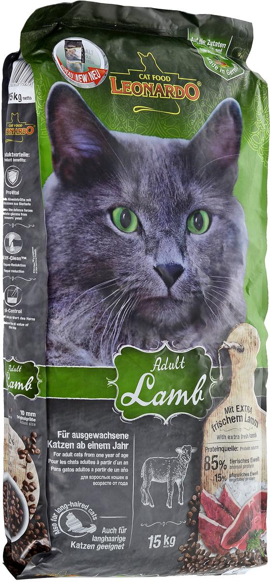 """Фото Корм сухой Leonadro """"Adult Sensetive"""" для кошек, склонных к аллергии, с ягненком и рисом, 15 кг"""