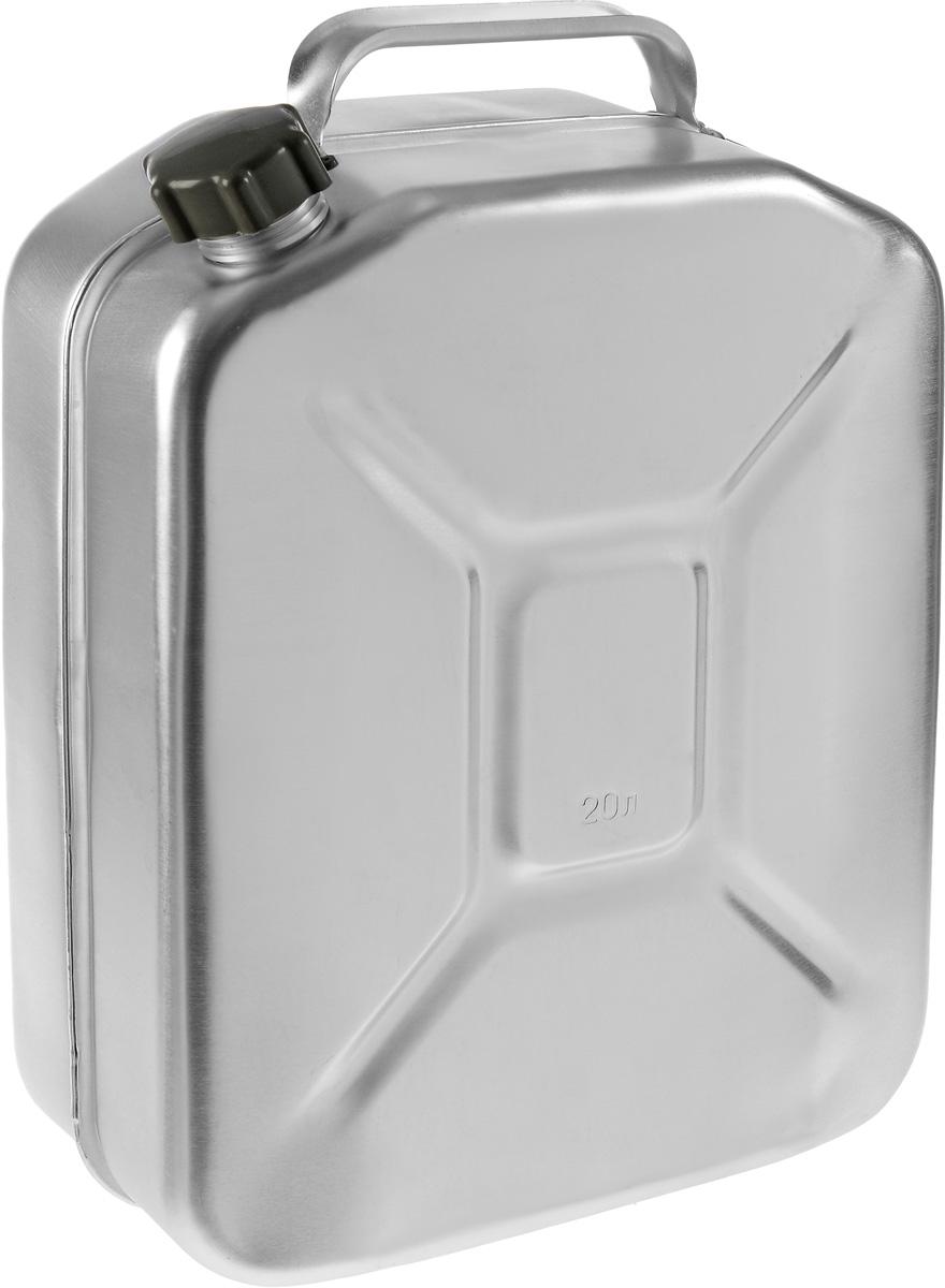 Канистра Scovo, 20 лМТ-031Канистра Scovo, выполненная из высококачественного алюминия, предназначена для хранения горюче-смазочного материала. Для герметичного закрытия канистры предусмотрена винтовая крышка из пластика. Канистра не ржавеет и имеет небольшой вес, крестообразная штамповка по бокам придает канистре дополнительную жесткость.Объем: 20 литров.Размер: 48 х 34 х 16,5 см.