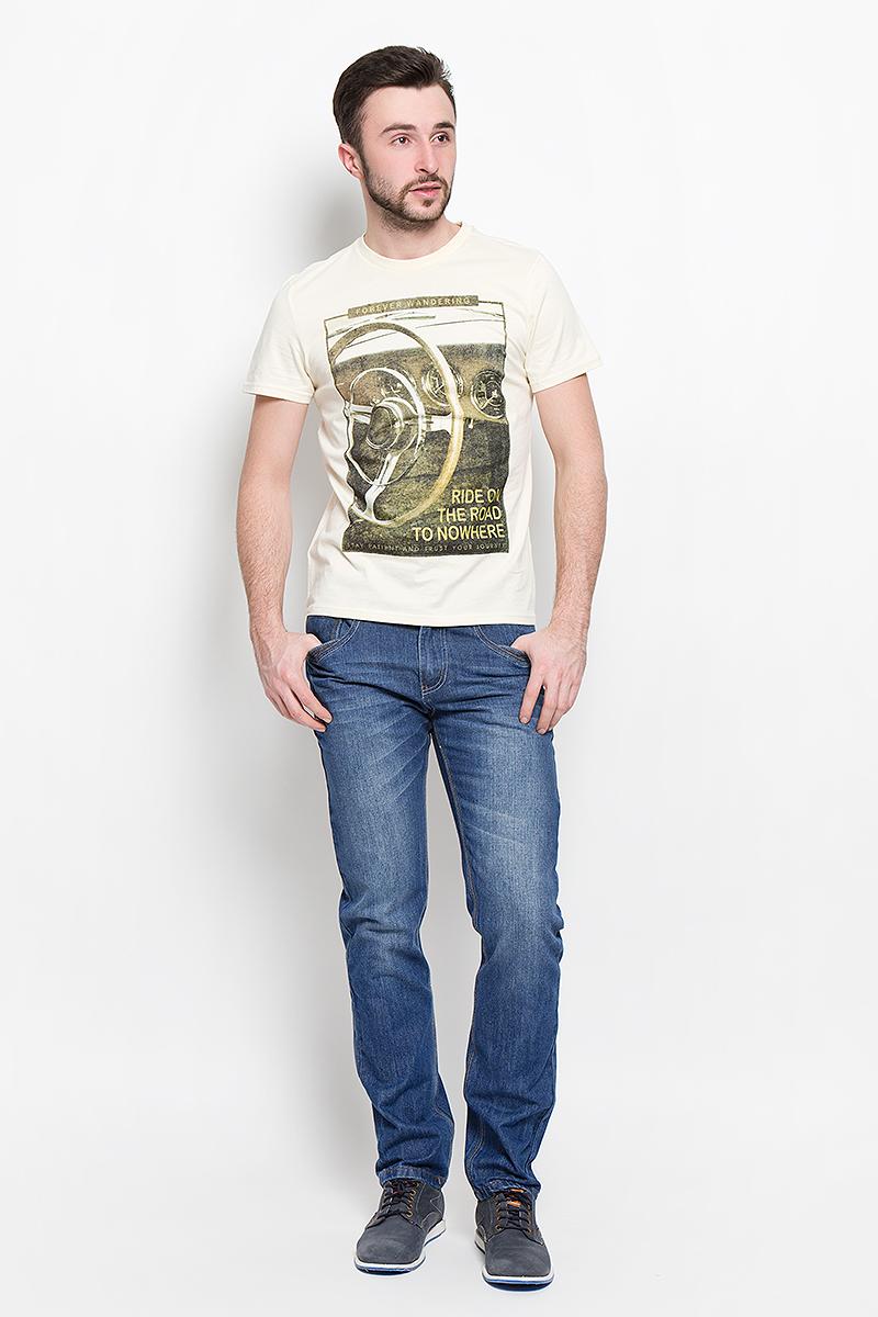 Джинсы мужские Sela Denim, цвет: синий джинс. PJ-235/1072-7150. Размер 28-32 (44-32)PJ-235/1072-7150Мужские джинсы Sela Denim выполнены из натурального хлопка с добавлением полиэстера.Прямая модель джинсов застегивается спереди на металлическую пуговицу и имеет ширинку на застежке-молнии. На поясе предусмотрены шлевки для ремня. Спереди расположены два втачных кармана и один маленький накладной, а сзади - два накладных кармана.