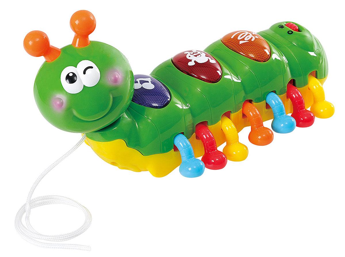 Playgo Развивающая игрушка Смеющаяся гусеница развивающая игрушка в коляску гусеница