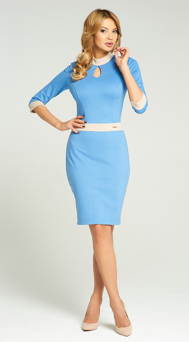 Платье Vittoria Vicci, цвет: голубой. VV16-2753-1. Размер M (46)