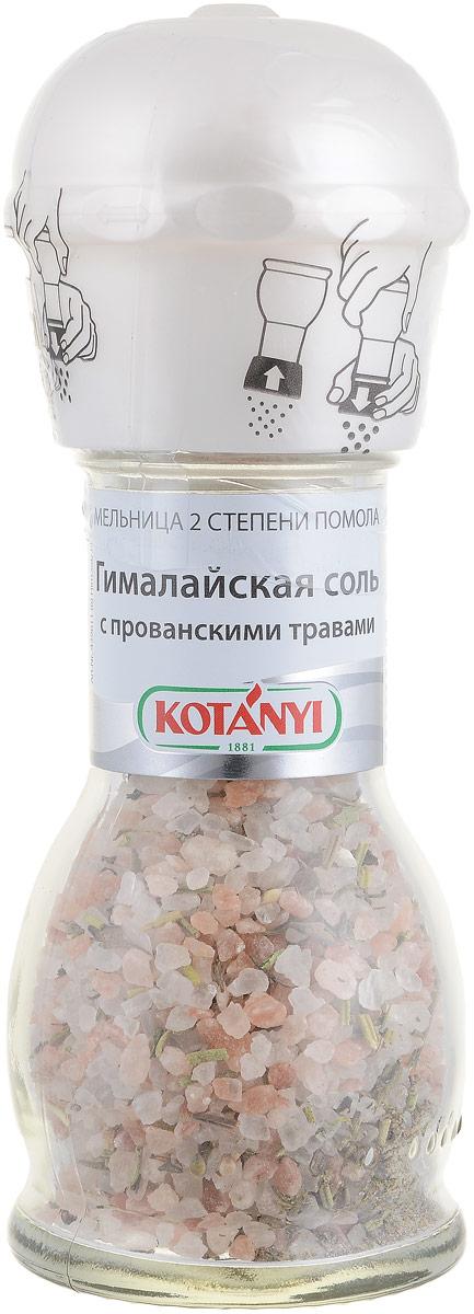 Kotanyi Гималайская соль с прованскими травами, 72 г439811Гималайская соль добывается на севере Пакистана и известна своим высочайшим качеством. Ее оранжевый цвет объясняется высоким содержанием железа. Гималайская соль в сочетании с ароматными травами подходит для мясных, рыбных, овощных блюд, а также для соусов и салатов. Конструкция мельнички позволяет осуществлять 2 степени помола (крупный и мелкий).Уважаемые клиенты! Обращаем ваше внимание, что полный перечень состава продукта представлен на дополнительном изображении.