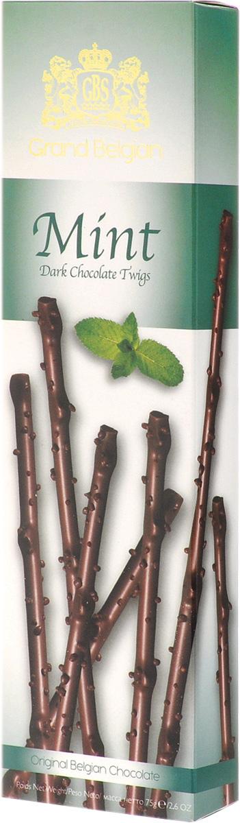 GBS Хворост из горького шоколада со вкусом мяты, 75 г