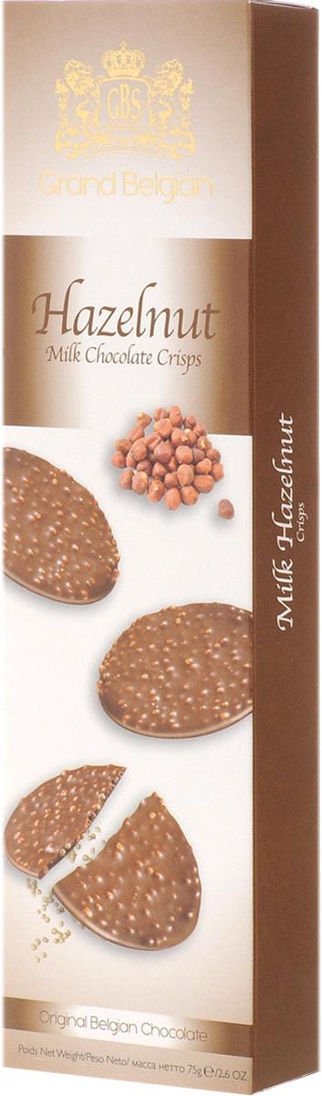 GBS Конфеты фигурные из молочного шоколада с воздушным рисом и фундуком, 75 г