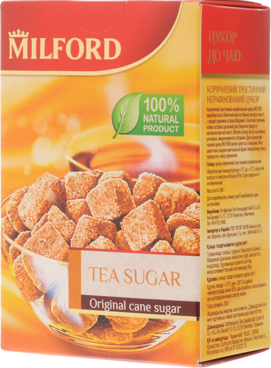 Milford чайный сахар, 300 гбси020Чайный сахар Milford - очень ароматный и высоко ценимый знатоками продукт. Кусочки сахара, благодаря своей оригинальной форме и необыкновенному вкусу, станут украшением чайной церемонии.100% натуральный продукт. Премиальный продукт высшего качества из Германии. Имеет насыщенный карамельный вкус и аромат, приятный золотистый цвет. Идеален для чаепития - вкусно и красиво!