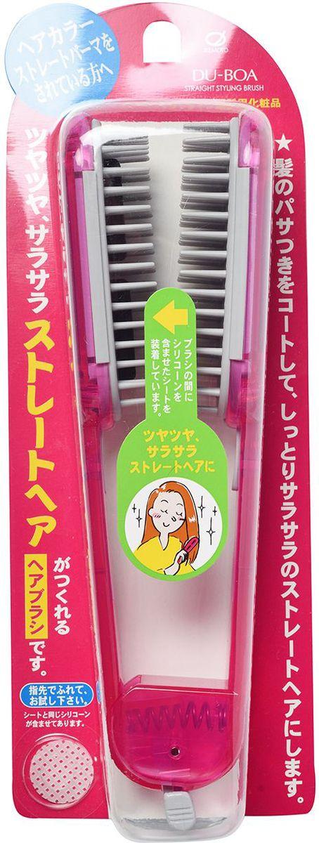 Ikemoto Щетка для выпрямления волос, цвет: розовый11059imС помощью щетки для выпрямления волос Вы сможете сделать укладку, не выходя из дома. Щётка имеет пластины, в состав которых входит силикон, который создает защитную пленку на волосах, склеивает расщепленные секущиеся кончики, облегчают расчесывание и укладку, придает волосам гладкость и привлекательный блеск.Расчешите влажные волосы, отделите тонкую прядь волос и вытяните ее от корней до кончиков, пропуская между пластинами щетки, одновременно высушивая феном. Повторите для остальных прядей. Во время сушки тёплый воздух, проходя через вентиляционные отверстия в центре щетки, улучшит выпрямление. Волосы быстрее высыхают, не повреждаются при прижимании пластин и становятся гладкими и прямыми. Внимание при применении: Не используйте при повреждениях кожи головы. При появлении каких-либо реакций на коже головы прекратите применение и обратитесь к врачу-дерматологу. Не используйте в других целях. При длительном непосредственном воздействии на щётку высоких температур во время сушки, а также при загрязнении спиртовыми укладочными средствами есть риск изменения формы и повреждения щётки. *Обычная сушка не влияет на пропитанные пластины. Силиконовые пластины не снимаются, поэтому при загрязнении промойте щетку без использования моющих средств, удалите влагу и просушите в тени.основа щетки – AS/полиэстеровая смола; пружина – железо, зубчики – полиэстеровая смола (максимально допустимая тем- пература – 80°С), стержень – уретановая смола (пропитка пластин – 1,6 мл). Состав компонентов в пластинах: высокомолекулярный метилполисилоксан, метилполисилоксан, диметил параамино бензоат 2-этилгексил, краситель фиолетовый-201.