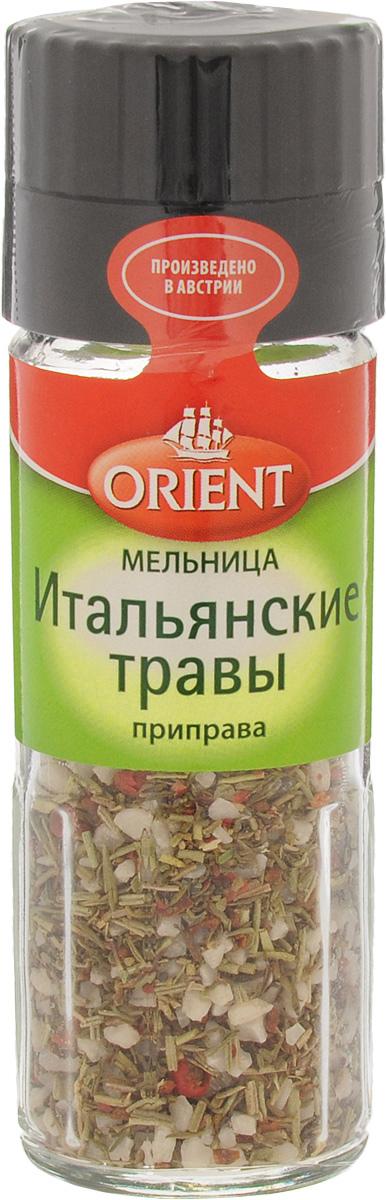 Orient Приправа Итальянские травы, 45 г430411Насладитесь интенсивным ароматом трав! Добавляйте приправу в конце приготовления или в готовое блюдо.Уважаемые клиенты! Обращаем ваше внимание, что полный перечень состава продукта представлен на дополнительном изображении.