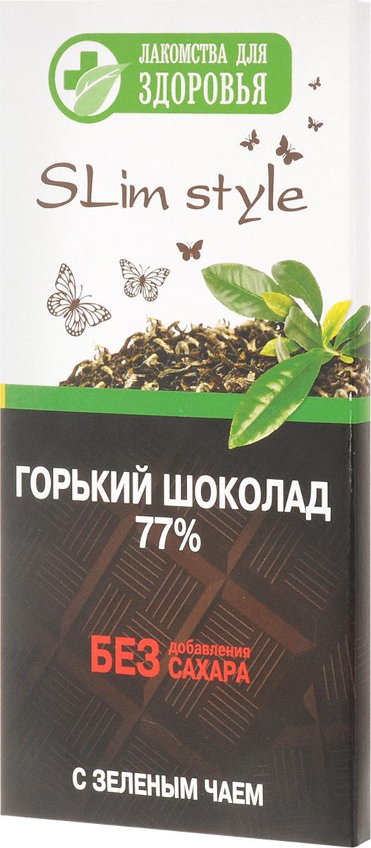Лакомства для здоровья Шоколад горький с зеленым чаем, 60 г лакомства для здоровья шоколад горький с кунжутом 100г