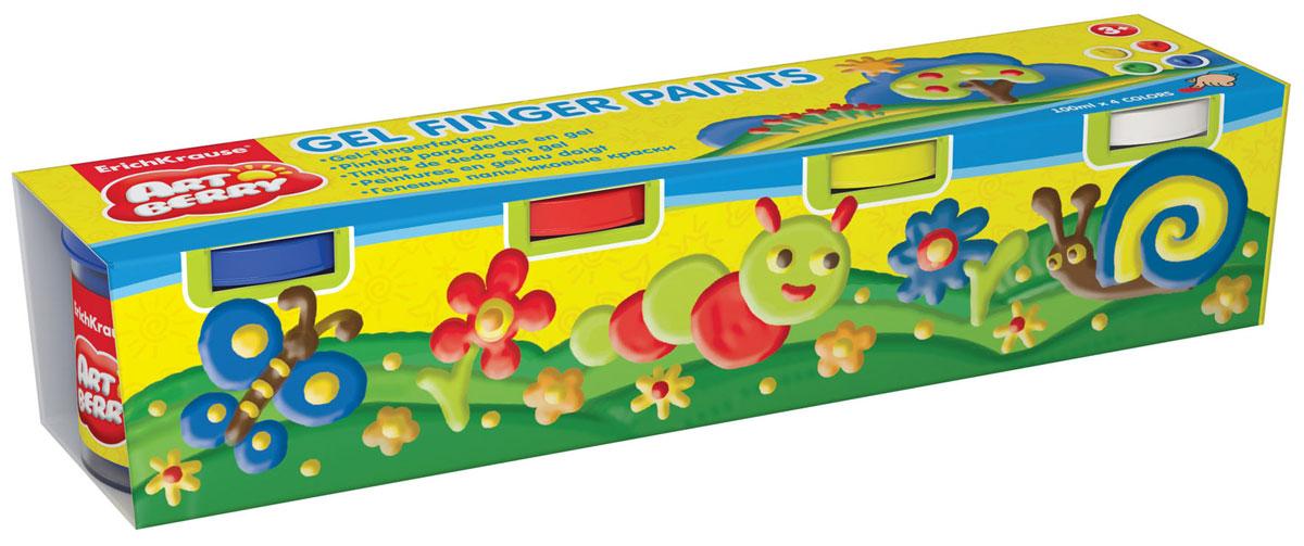 Erich Krause Пальчиковые краски Art Berry 4 цвета34819Краски пальчиковые Erich Krause Art Berry представляют собой набор красок зеленого, синего, желтого и красного цветов. Безопасные краски для самых маленьких, не содержат вредных компонентов. Густые гелеобразные краски изготовлены на водной основе. Краски легко смываются, быстро сохнут. После высыхания цвета остаются яркими и сочными. Рисовать можно пальцами, ладонями, кисточкой или спонжем. Пальчиковые краски способствуют развитию творческих способностей. Емкость каждой баночки 100 мл.