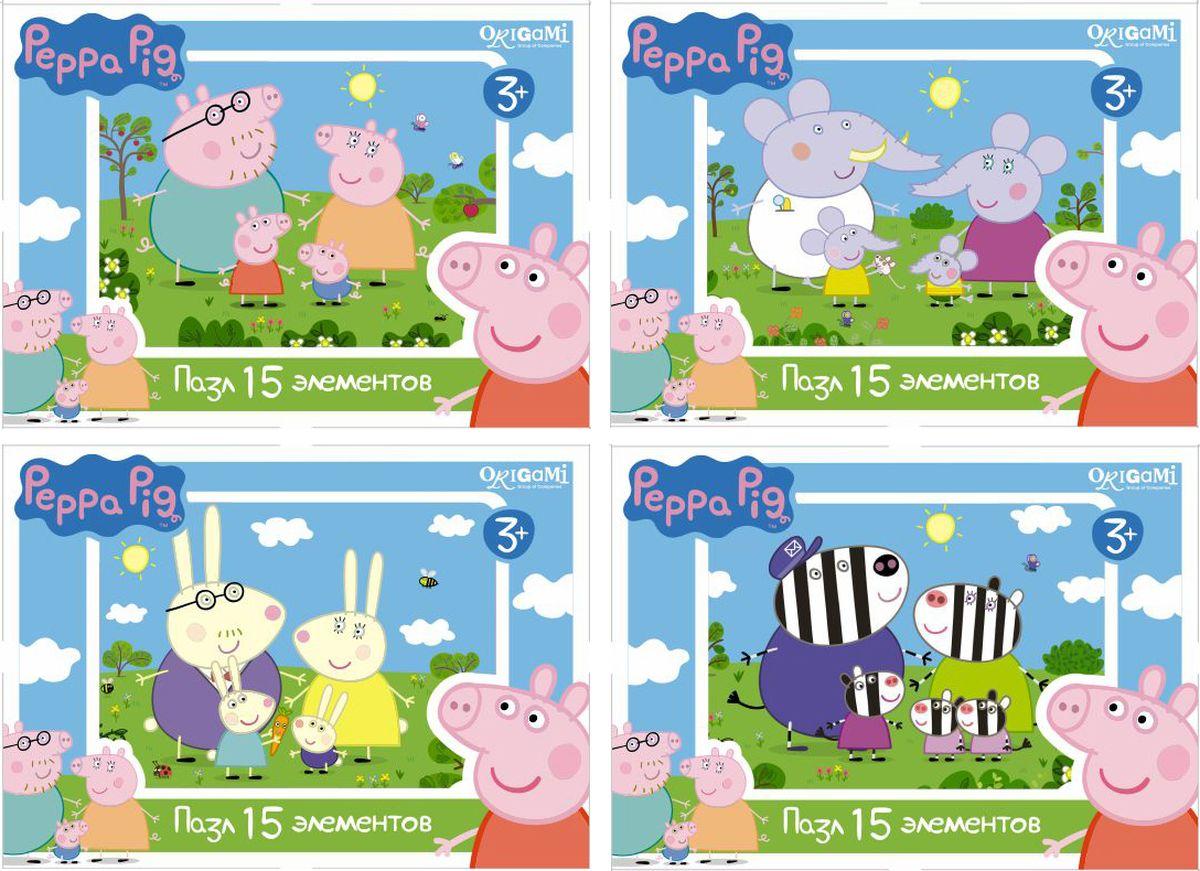 Оригами Мини-пазл Peppa Pig Заяц Оригами