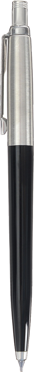 Parker Карандаш механический Jotter B60 BlackPARKER-S0705670Механический карандаш Parker Jotter B60 Black из популярной коллекции Jotter - это статусный и ценный подарок. Материал карандаша - нержавеющая сталь и пластик, в отделке применяется зеркальный хром. В карандаше используются грифели диаметром 0,5 мм. В комплект поставки входит 3 грифеля, заправленные в карандаш. Данный пишущий инструмент поставляется в фирменной картонной коробке. В комплекте также гарантийный талон с международной гарантией на 2 года. Произведено во Франции.