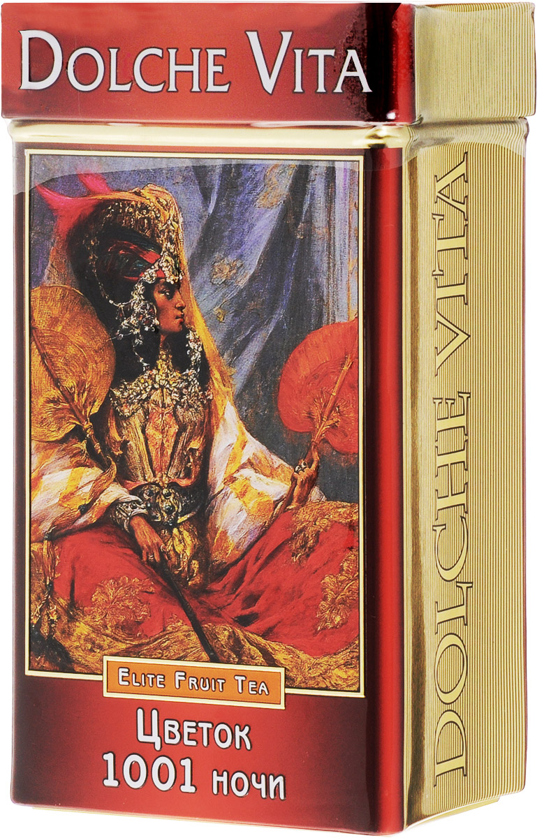 Dolche Vita Цветок 1001 ночи подарочный листовой чай, 100 г teacher карельский чай цветочно травяной купаж 500 г