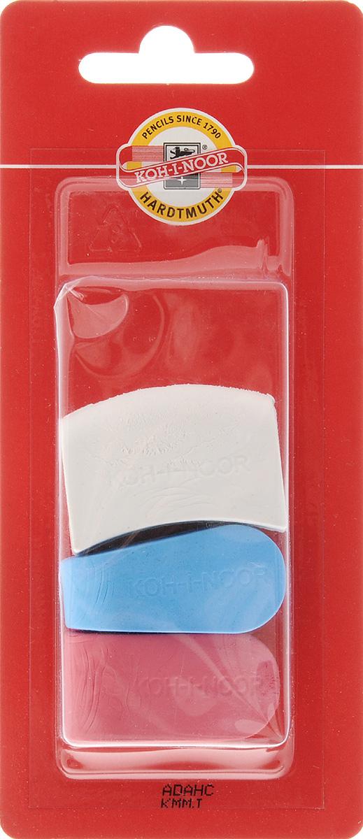 Koh-i-Noor Набор ластиков фигурных 3 шт factis набор мягких ластиков цвет белый 2 шт