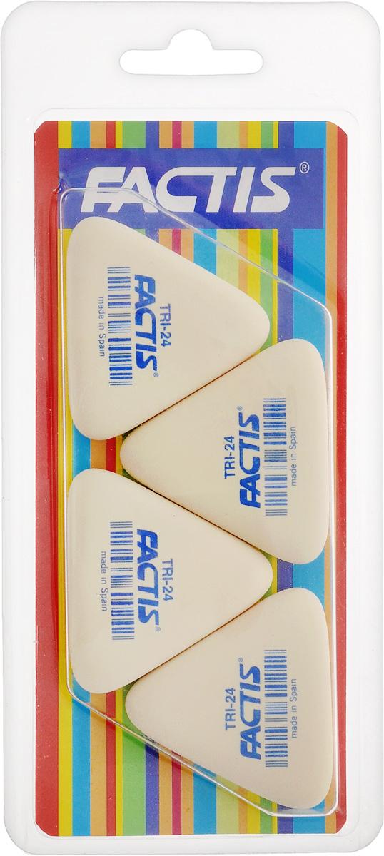 Factis Набор мягких ластиков 4 штTRI-24/4Набор мягких ластиков из синтетического каучука Factis идеально подходят для применения как в школе, так и в офисе.Ластики обеспечивают высокое качество коррекции, не повреждают поверхность бумаги, даже при сильном трении, не оставляют следов.Абсолютно безопасны, не токсичны и экологичны.В упаковке 4 ластика.