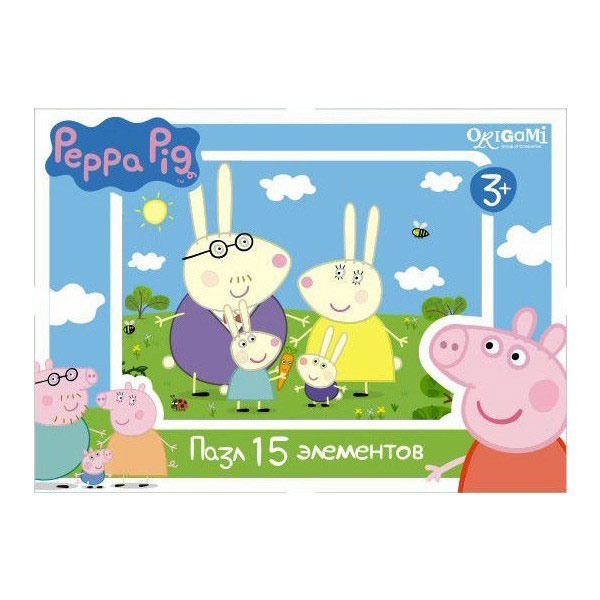 Оригами Мини-пазл Peppa Pig Заяц пазл origami peppa pig транспорт 4 в 1