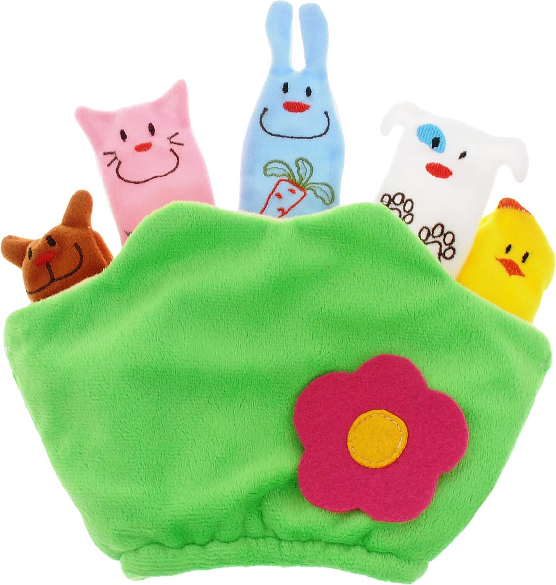 Mommy Love Развивающая игрушка Полянка цветные пальчики