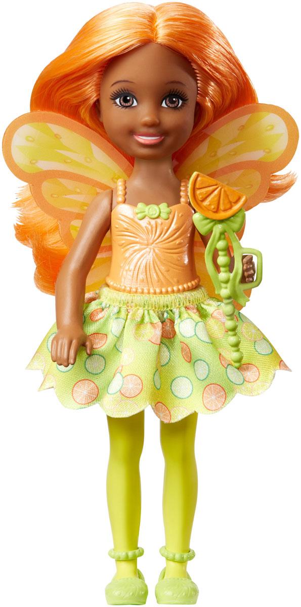 Barbie Мини-кукла Маленькая фея Челси цвет платья желтый салатовый кукла barbie fairytale checklane asst dolls фея 10 см v7050