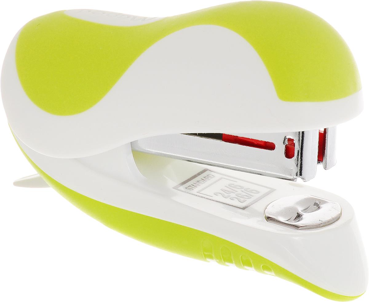 Maped Степлер Ergologic-mini для скоб 24/6 и 26/6 цвет салатовый степлер ручной novus j19o ky для кабеля 030 0422