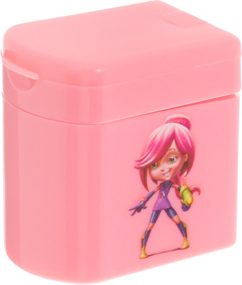Adel Точилка для карандашей Adeland цвет розовый426-0607-100_розовыйТочилка для карандашей Adeland хорошо точит цветные и простые карандаши. Она пригодится любому студенту или школьнику. Точилка оснащена двумя отверстиями разного диаметра и не повреждает поверхность карандаша при заточке. Точилка выполнена в виде яркой коробочки с изображением героев мультфильма Adeland. Крышка коробочки открывается, емкость под стружку легко отделяется от корпуса.