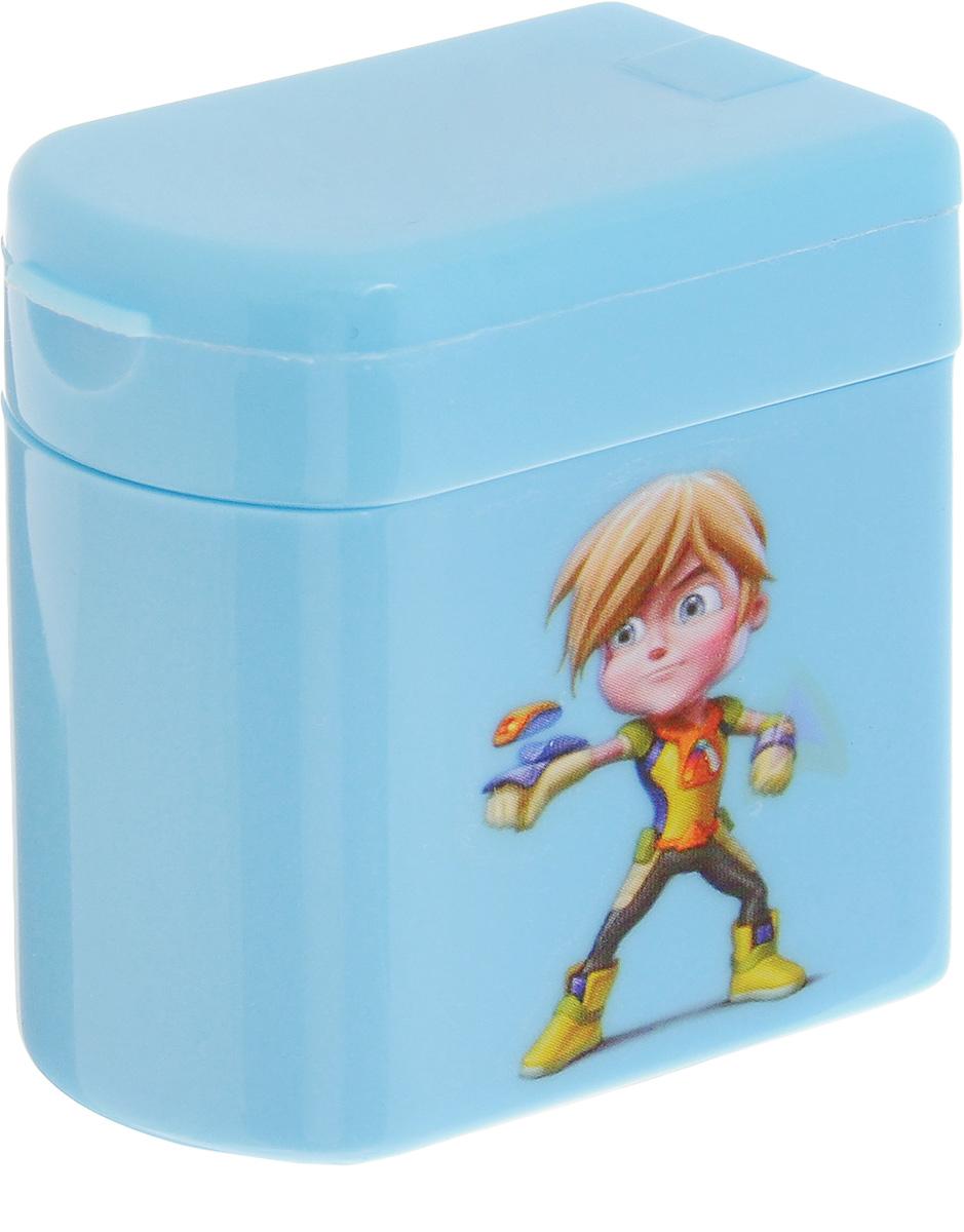 Adel Точилка для карандашей Adeland цвет голубой426-0607-100_голубойТочилка для карандашей Adeland хорошо точит цветные и простые карандаши. Она пригодится любому студенту или школьнику. Точилка оснащена двумя отверстиями разного диаметра и не повреждает поверхность карандаша при заточке. Точилка выполнена в виде яркой коробочки с изображением героев мультфильма Adeland. Крышка коробочки открывается, емкость под стружку легко отделяется от корпуса.