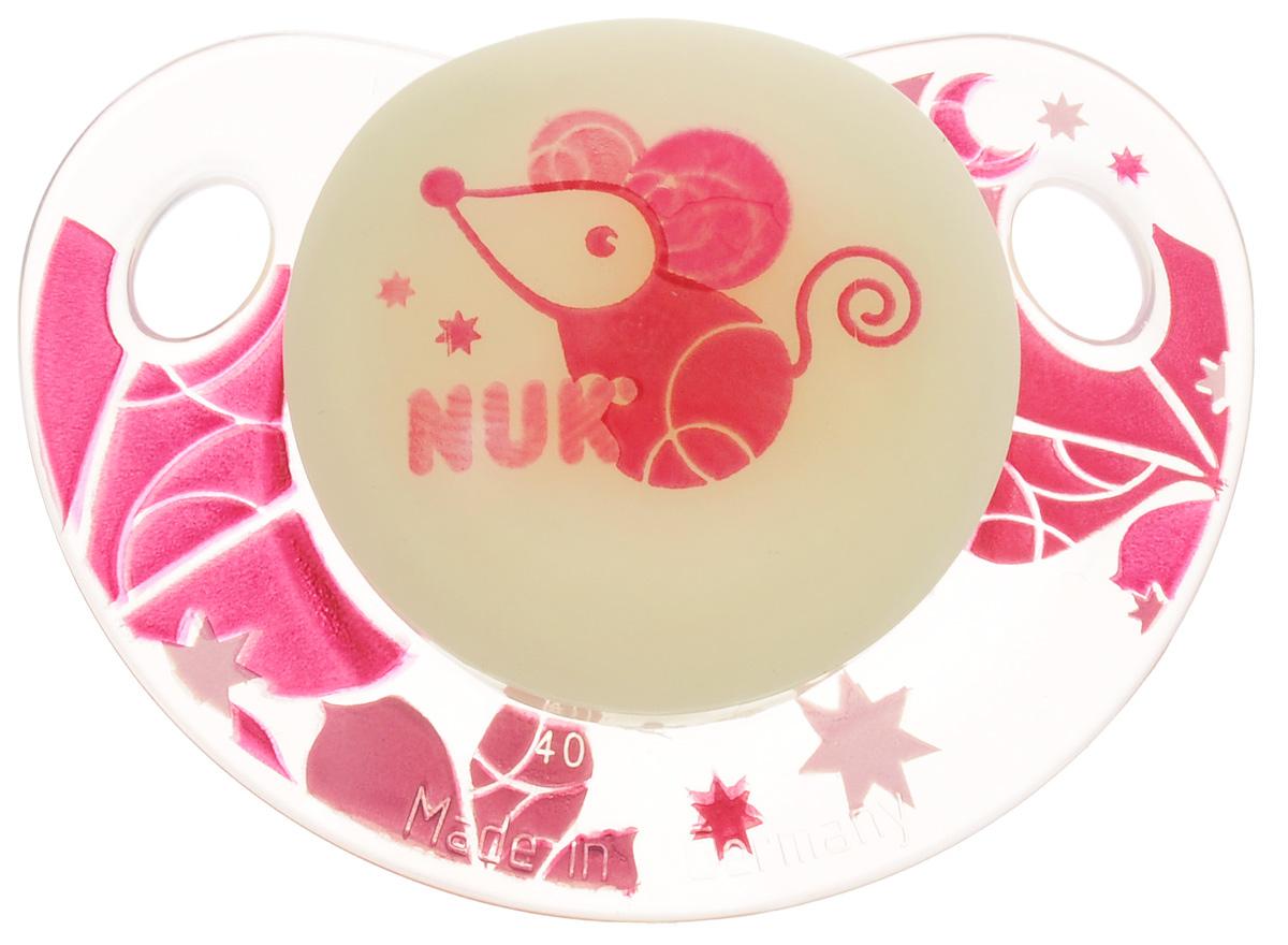 NUK Пустышка латексная Мышка ортодонтическая от 0 до 6 месяцев nuk пустышка латексная для сна ежик ортодонтическая от 0 до 6 месяцев