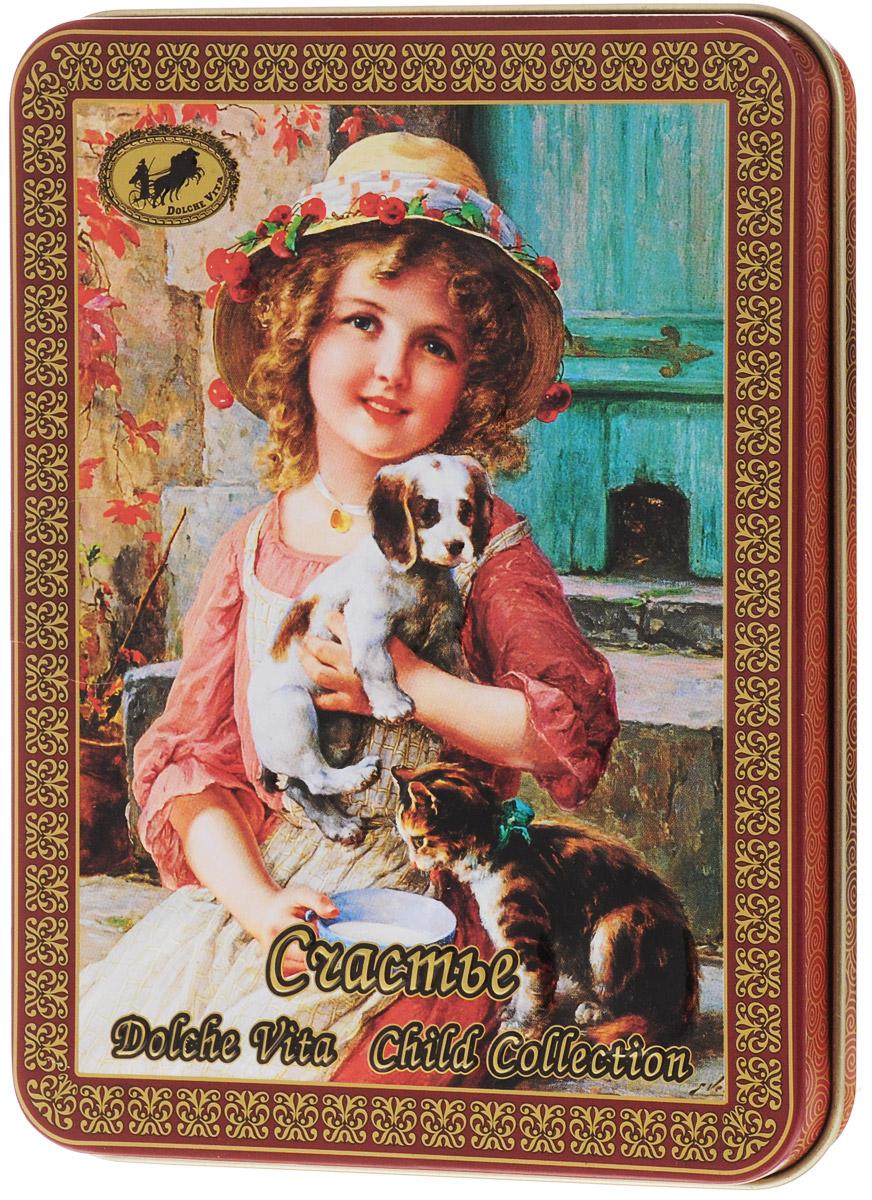 Dolche Vita Счастье подарочный листовой чай, 60 г greenfield чай greenfield классик брекфаст листовой черный 100г