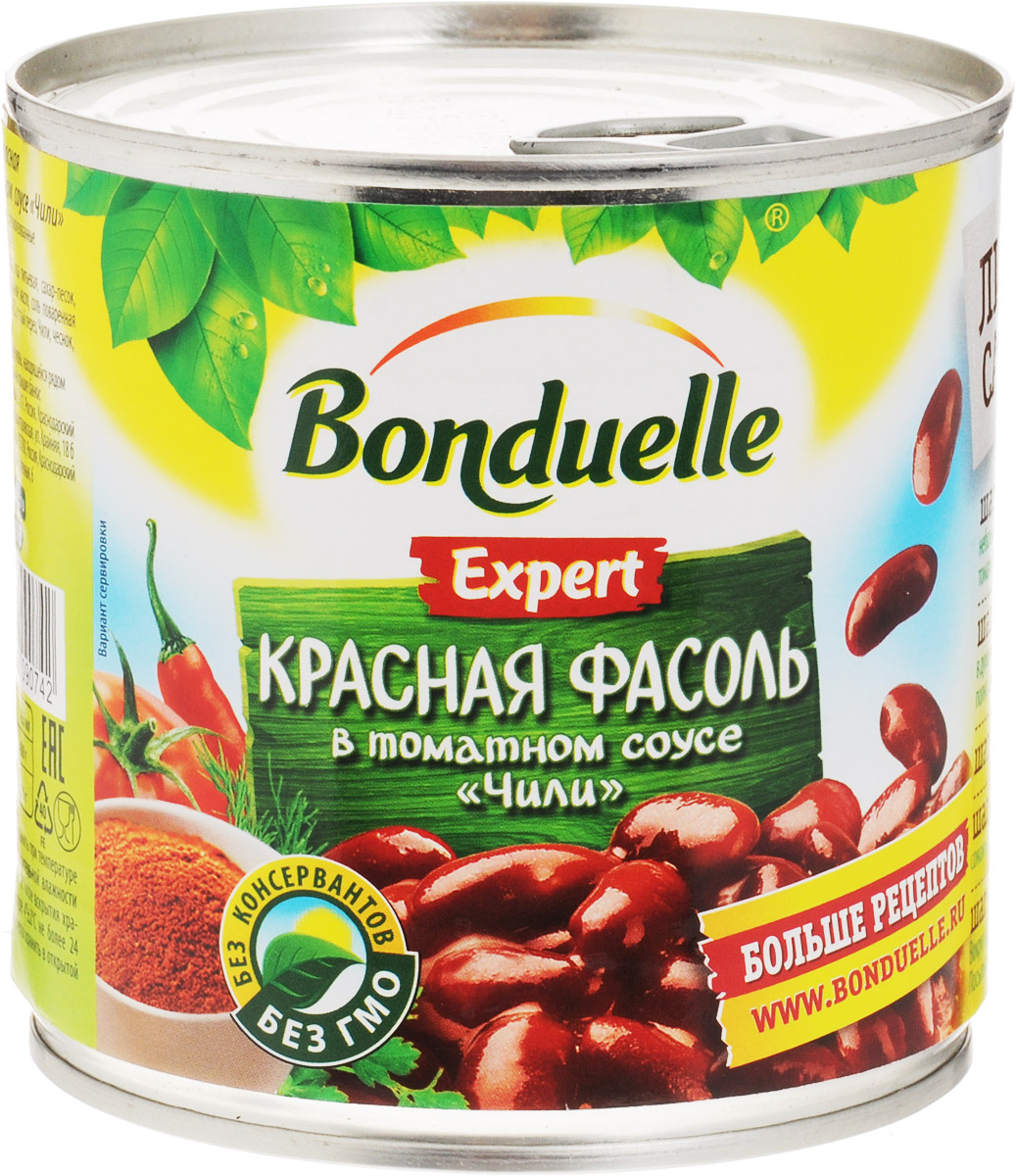 Bonduelle красная фасоль в соусе Чили, 400 г икра bonduelle из кабачков 500мл