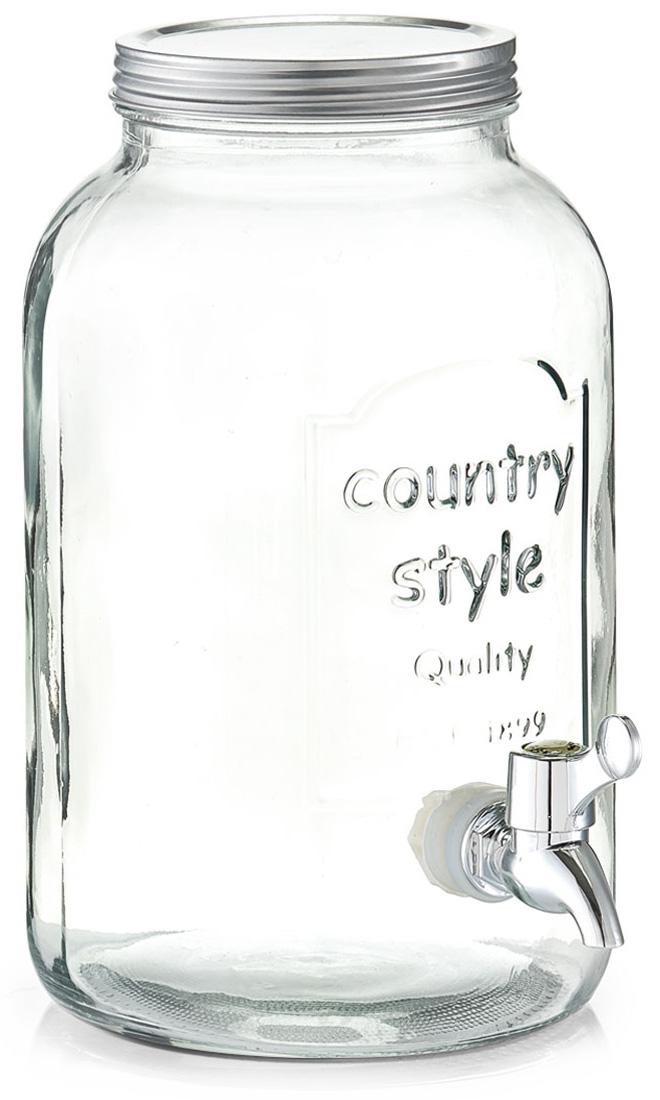 Банка для напитков Zeller, с краником, 3,5 л. 1973519735Банка Zeller, выполненная из прочного стекла, оснащена металлической крышкой и пластиковым краном для выливания жидкости. Изделие станет идеальным вариантом для хранения и подачи полезных лимонадов, ароматных свежевыжатых соков и других напитков.Такая банка украсит интерьер любой кухни и станет отличным подарком для ваших родных и близких.