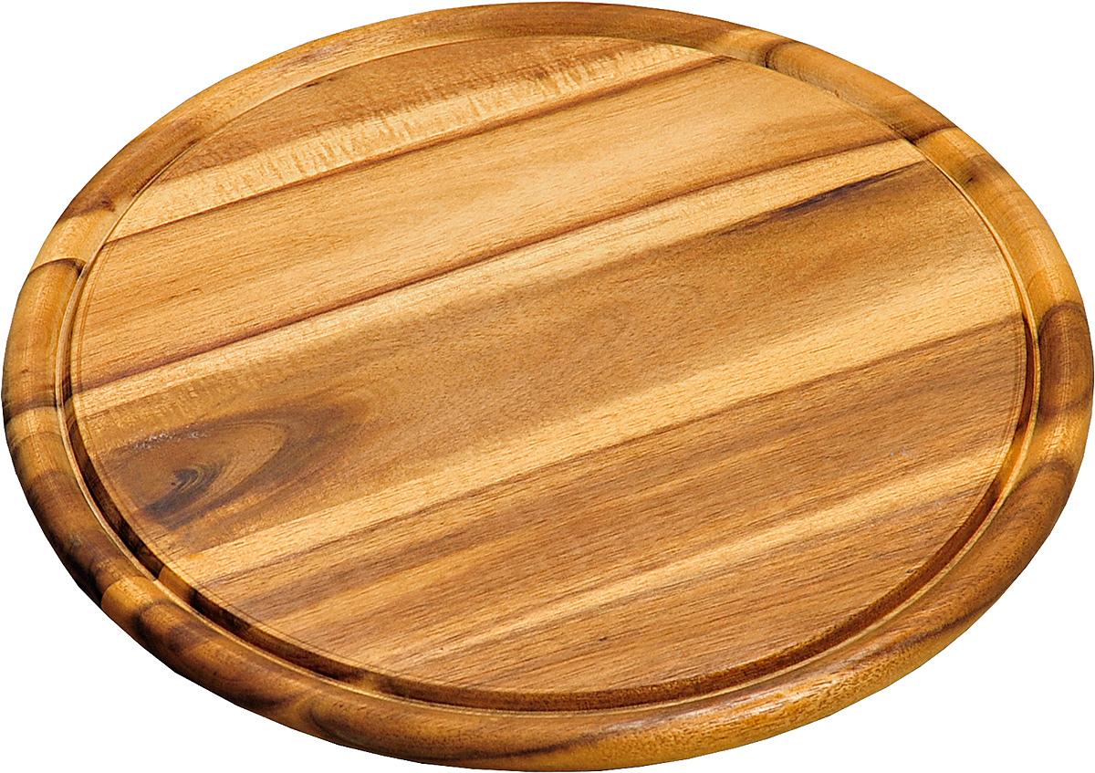 Доска подстановочная Kesper, диаметр 30 см. 2844-42844-4Доска подстановочная Kesper круглой формы выполнена из дерева темной акации. Подходит для частого применения, имеет небольшой размер, что экономит место на кухне. Толщина: 1,5 см; Высота бортика: 0,5 см; Внутренний диаметр: 26 см; Общий диаметр: 30 см.