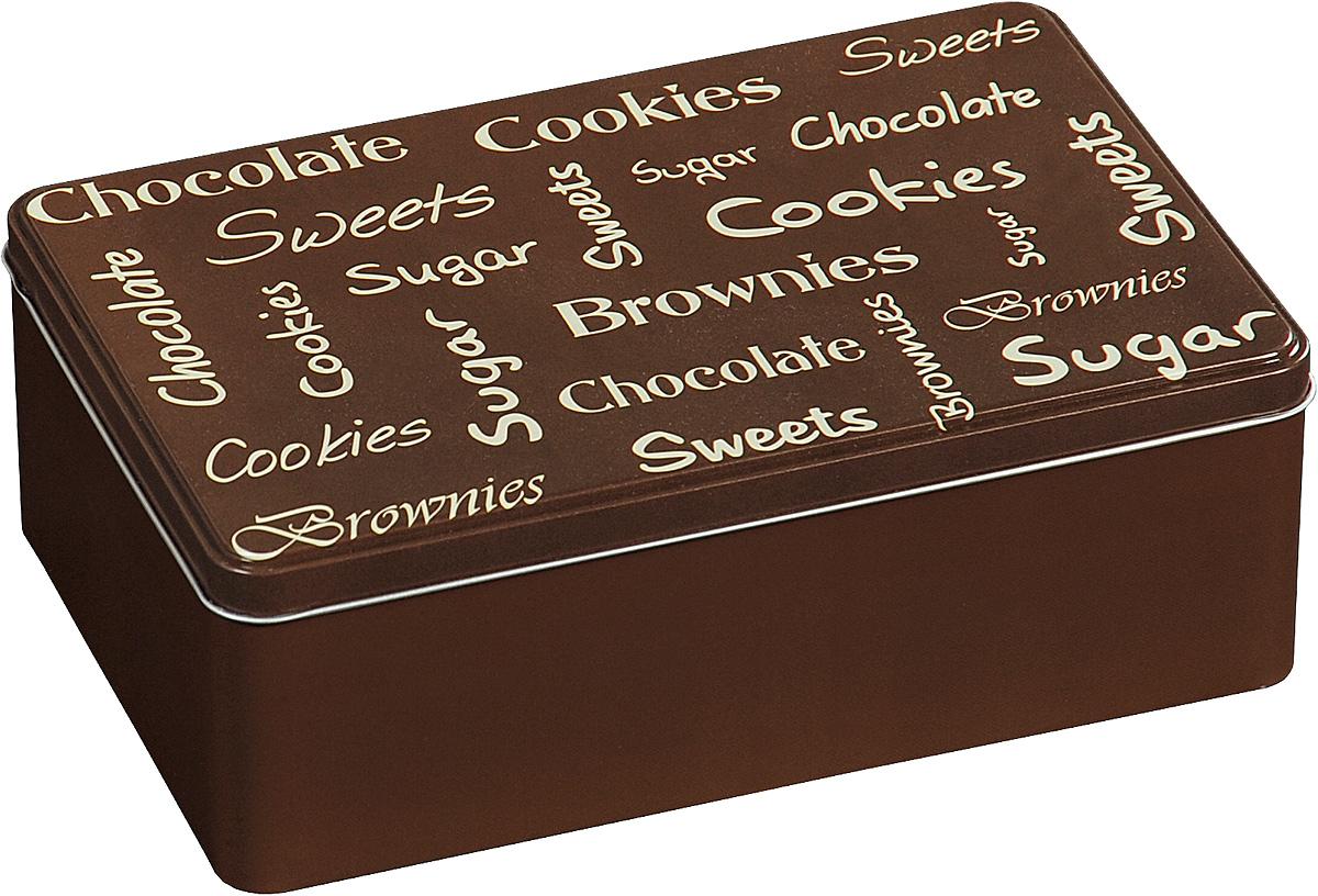 Коробка для чайных пакетиков Kesper, цвет: коричневый, 20 х 13 х 7 см3820-8Коробка для хранения Kesper изготовлена из металла, крышка изделия декорирована надписями. Такая коробка подойдет для хранения чайных пакетиков и любых других бытовых мелочей. Она надежно защитит содержимое от пыли, влаги, грязи и насекомых. Удобная коробка для хранения станет прекрасным приобретением для кухни.Размер коробки: 20 х 13 х 7 см.