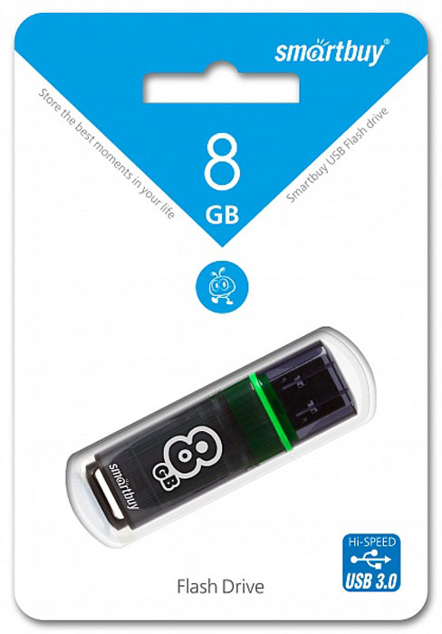 SmartBuy Glossy Series 3.0 8GB, Dark Grey USB-накопитель