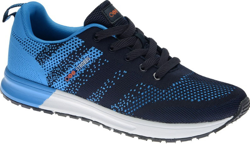 Кроссовки мужские Strobbs, цвет: синий. C2422-2. Размер 44C2422-2Стильные мужские кроссовки Strobbs отлично подойдут для активного отдыха и повседневной носки. Верх модели выполнен из текстиля. Удобная шнуровка надежно фиксирует модель на стопе. Подошва обеспечивает легкость и естественную свободу движений. Мягкие и удобные, кроссовки превосходно подчеркнут ваш спортивный образ и подарят комфорт.